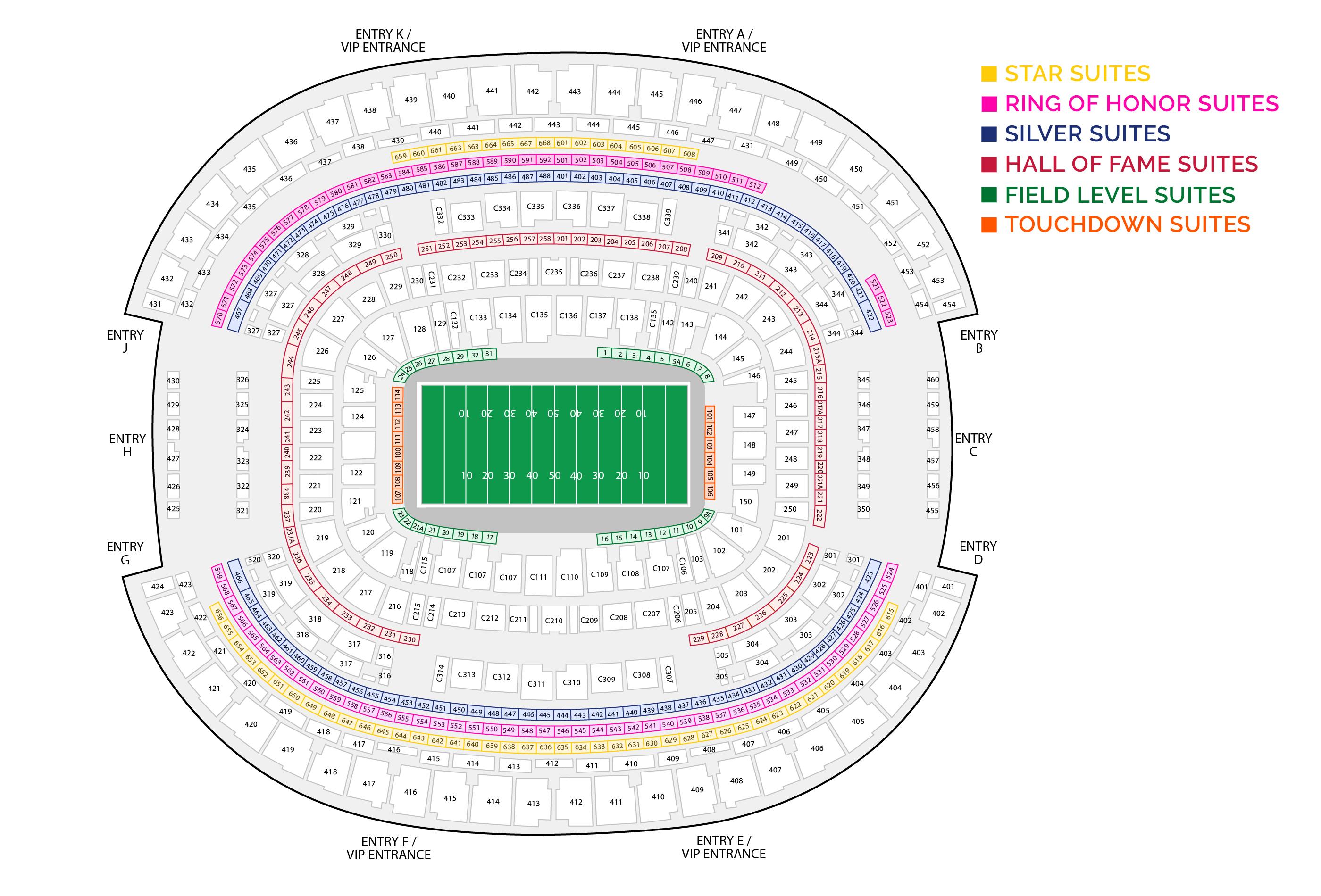 Ring Of Honor Suite Cowboys Stadium