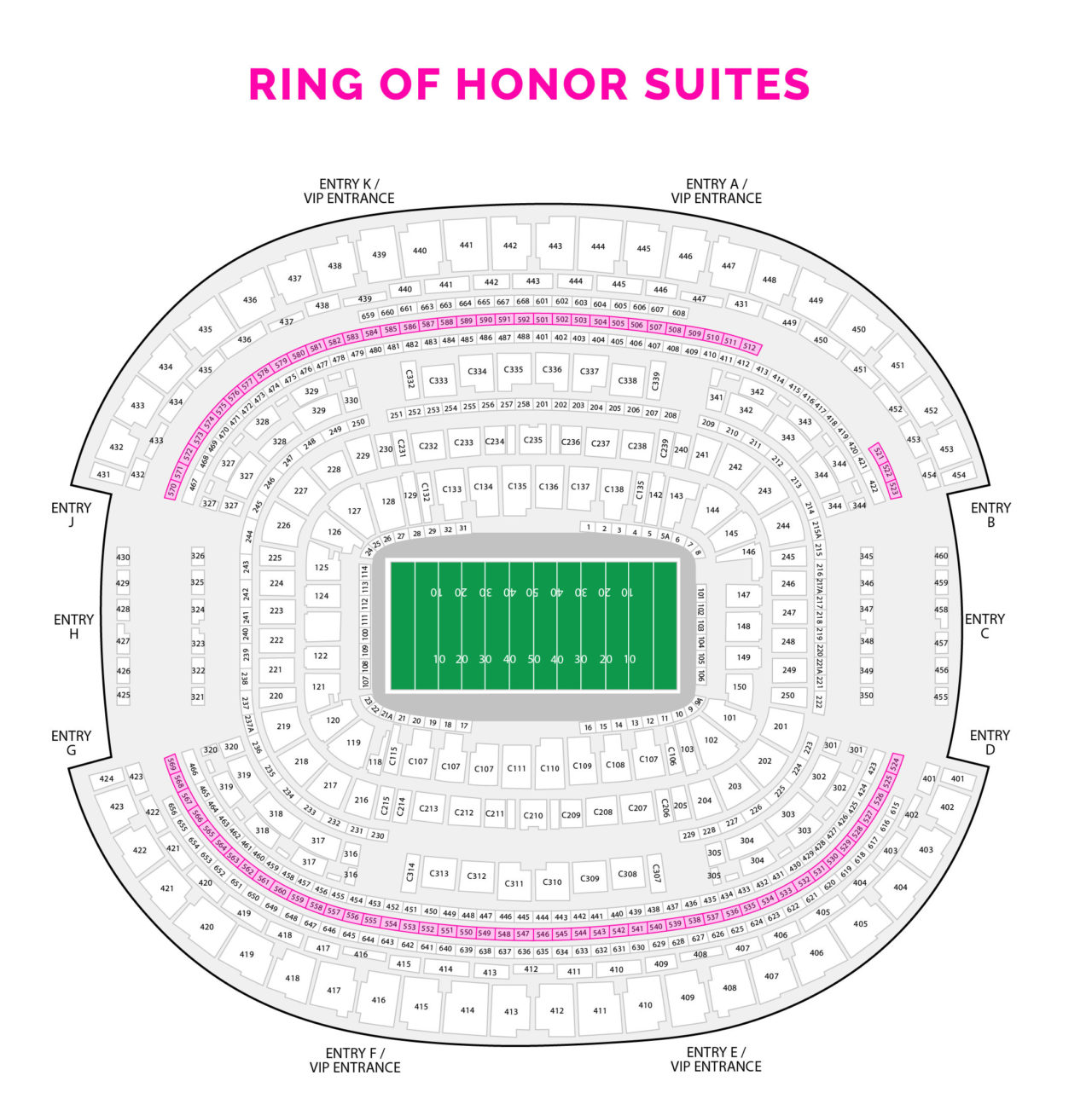 Cowboys Ring of Honor Suites
