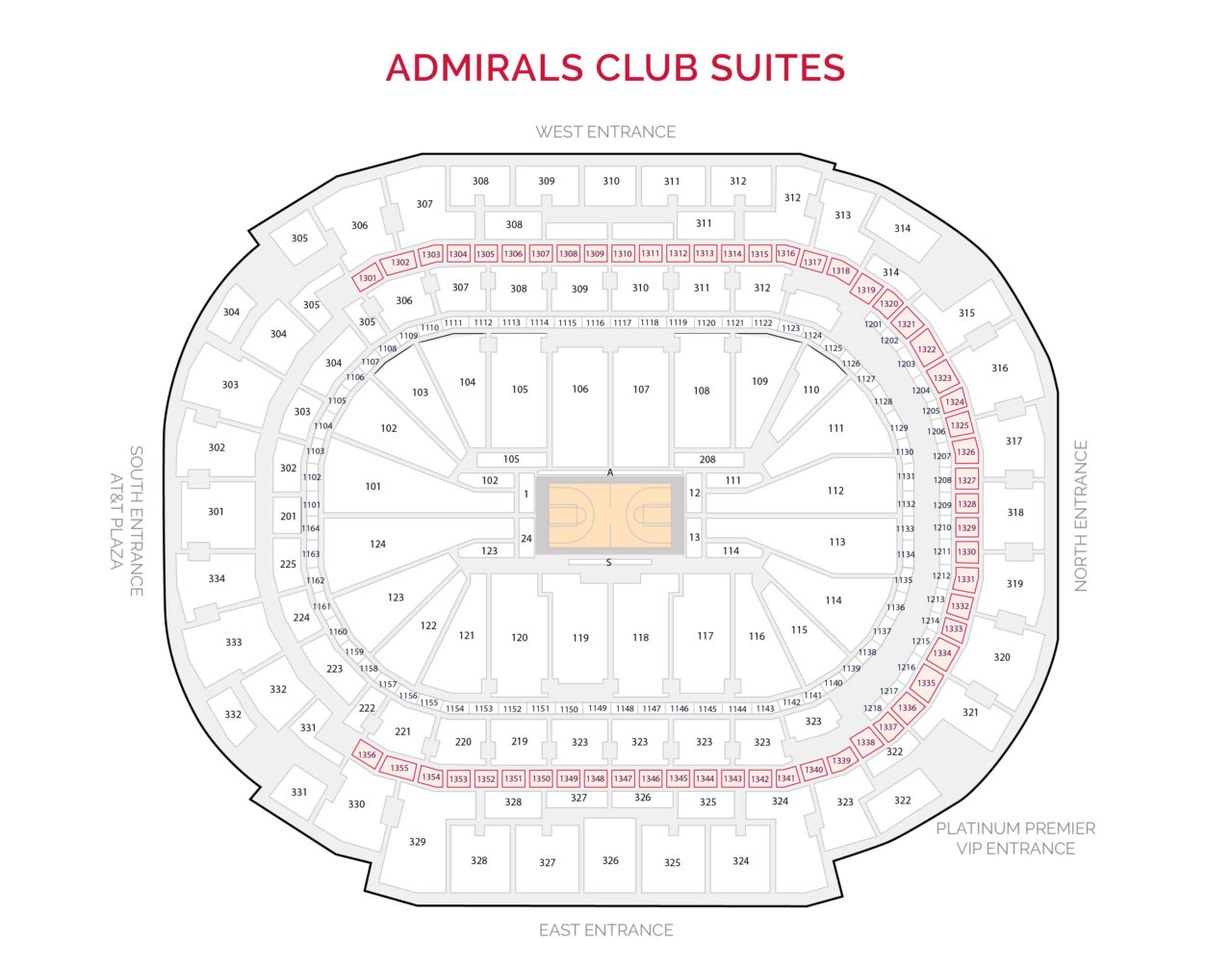 Dallas Mavericks Suites - Admirals Club