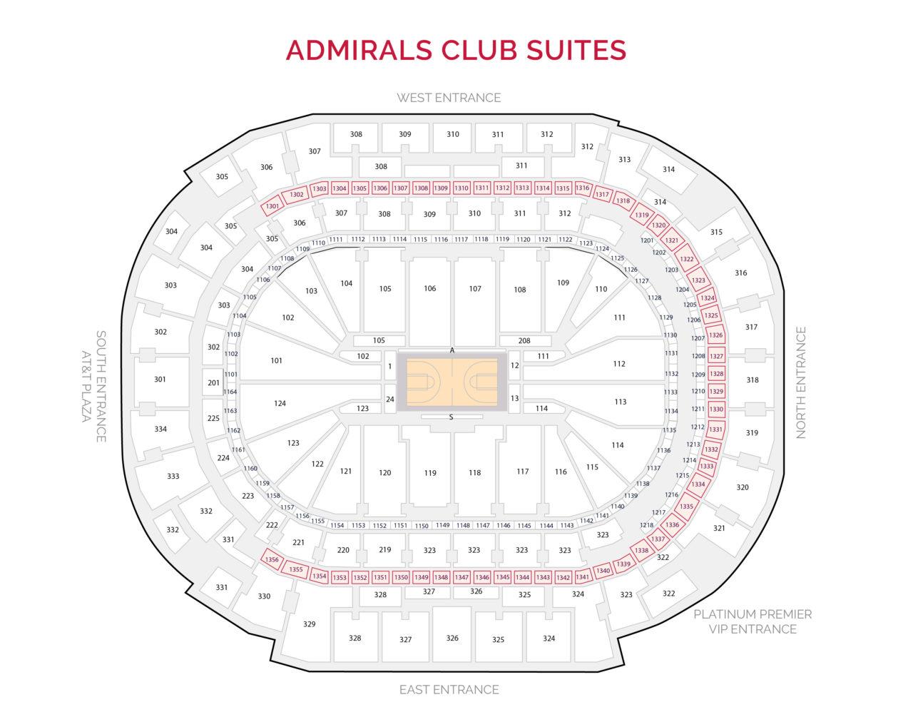 Dallas Mavericks Suites - Admirals Club