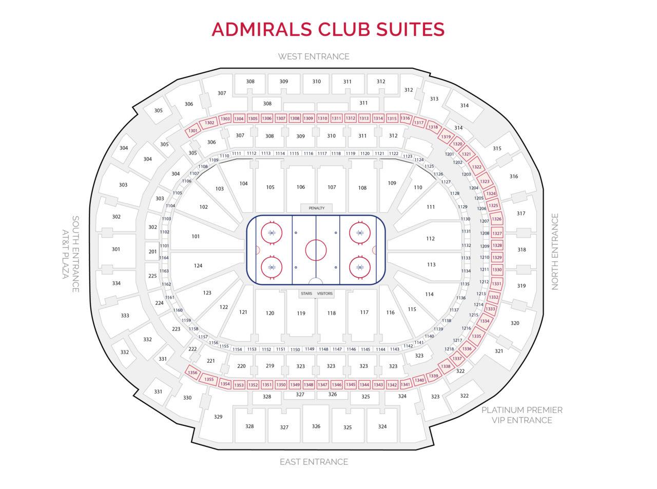 Dallas Stars Suites - Admirals Club