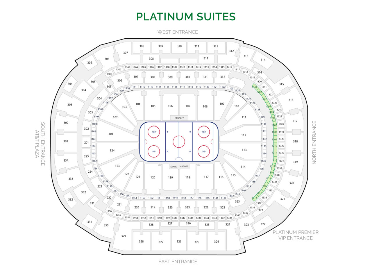 Dallas Mavericks Suites - Platinum