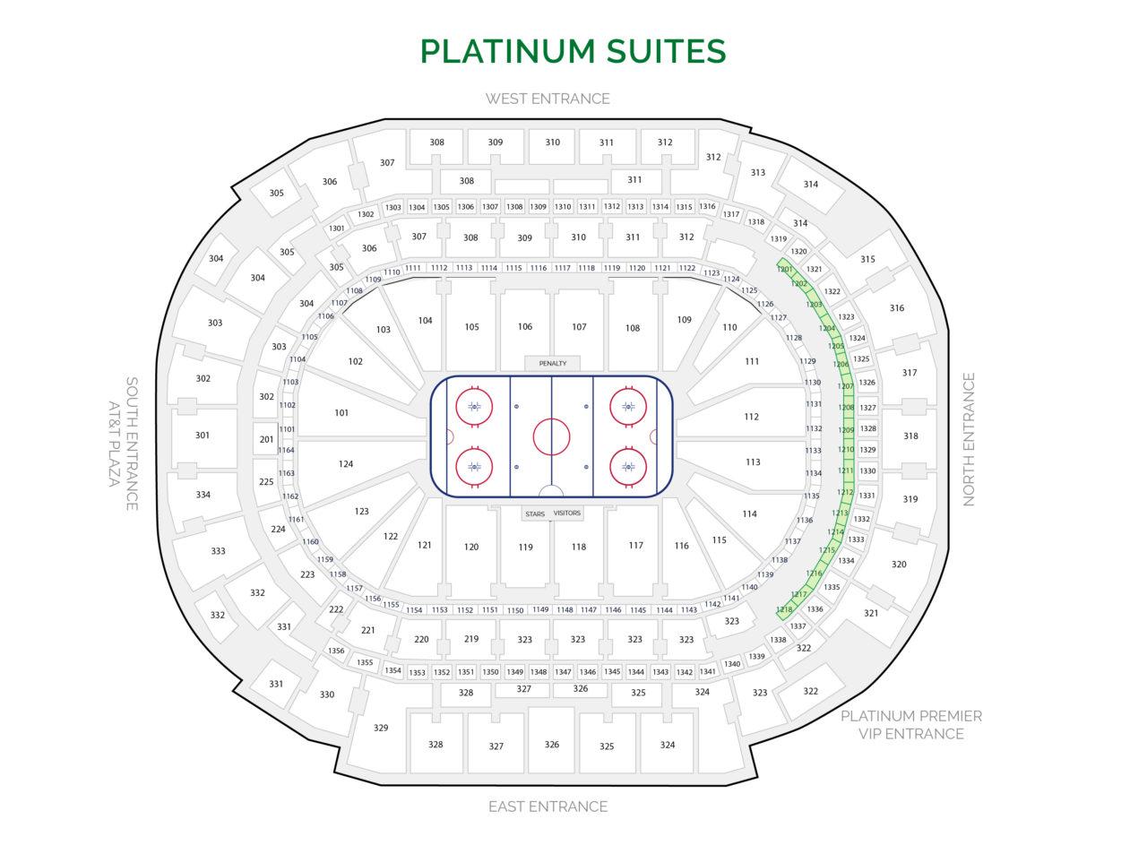 Dallas Stars Suites - Platinum Suites